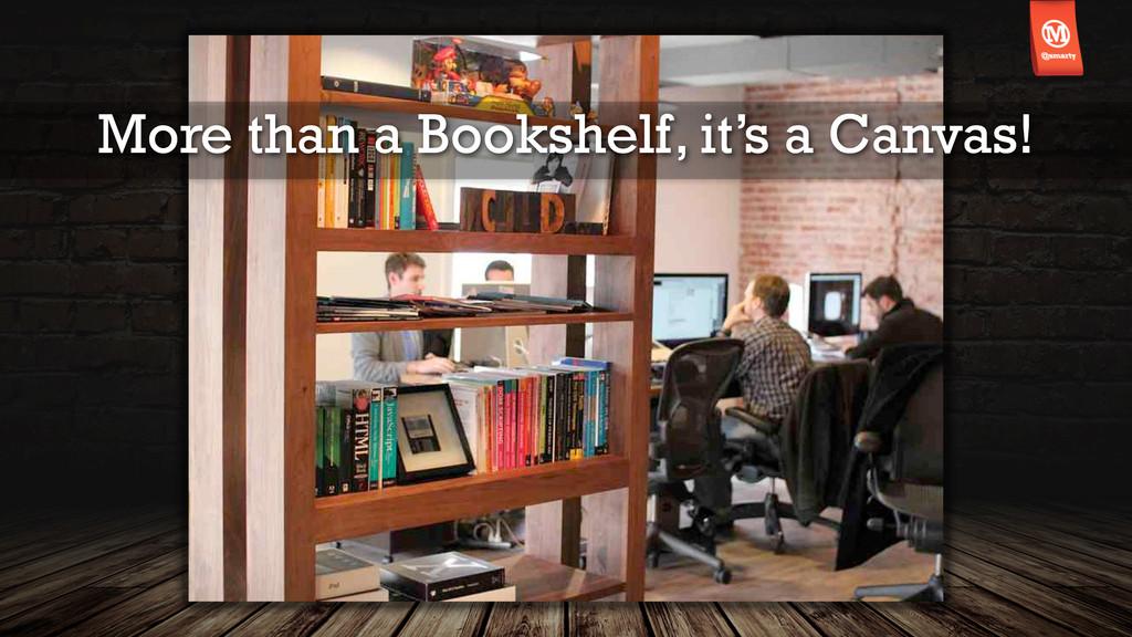 More than a Bookshelf, it's a Canvas!