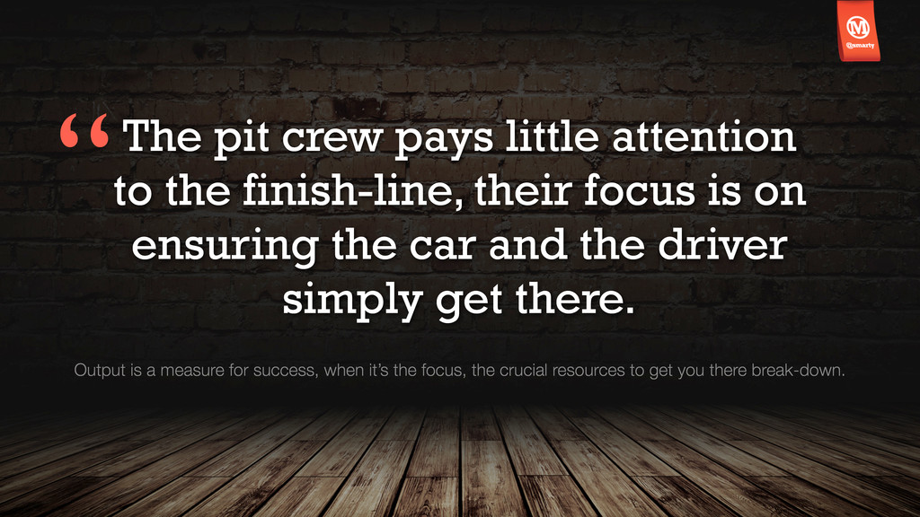 The pit crew pays little attention to the finis...