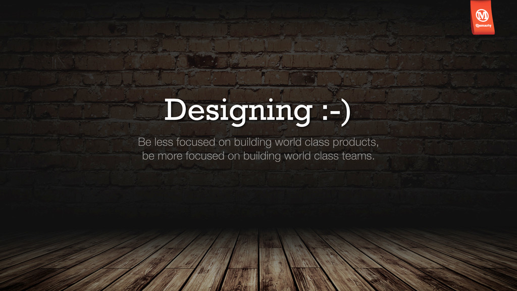 Designing :-) Be less focused on building world...