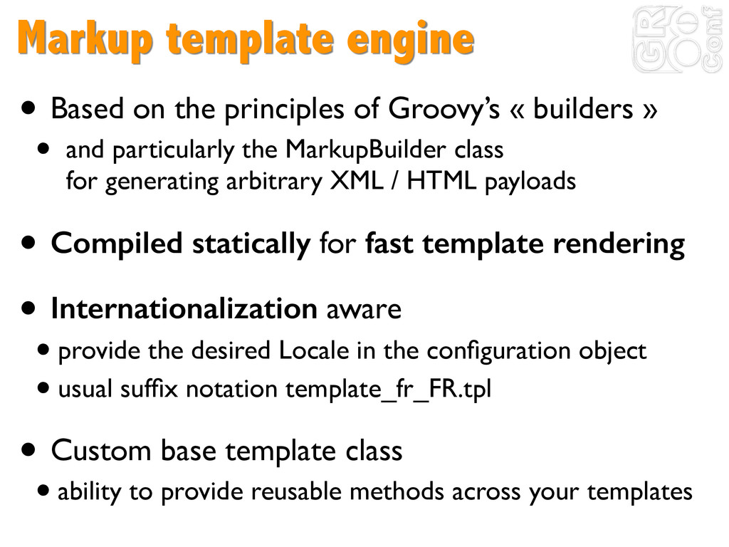 Markup template engine • Based on the principle...