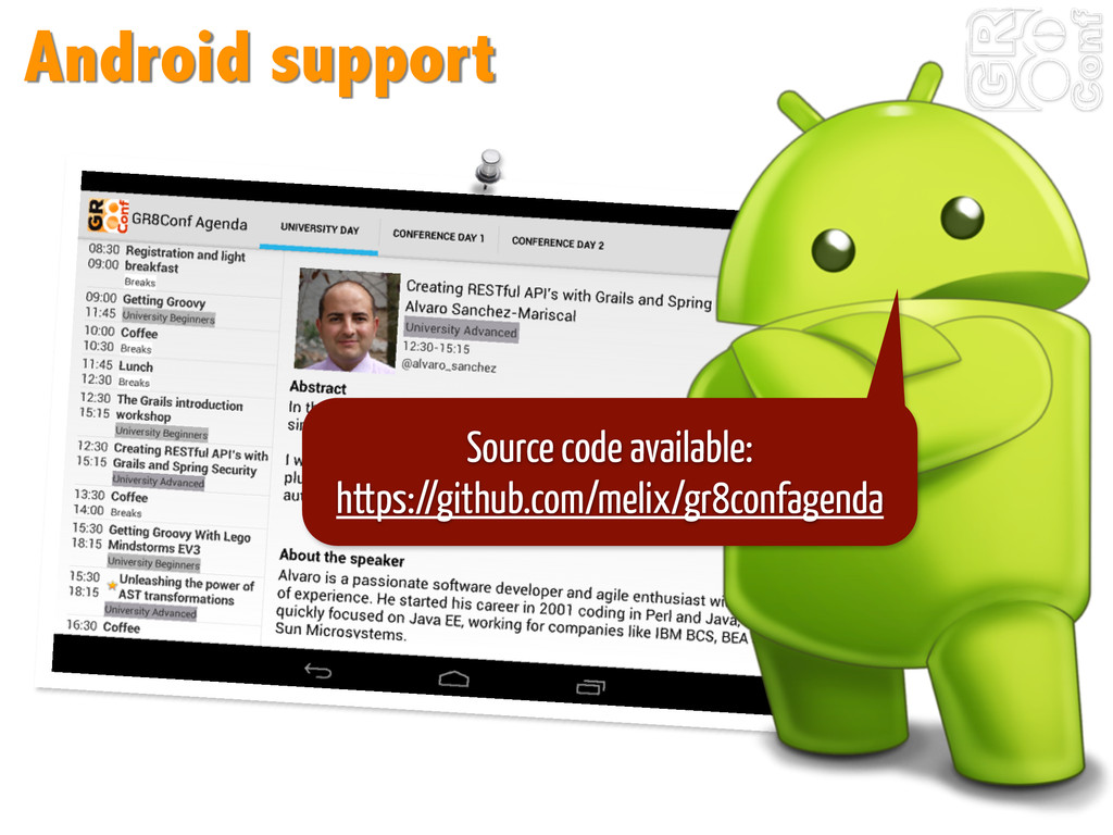 Android support Source code available: https://...