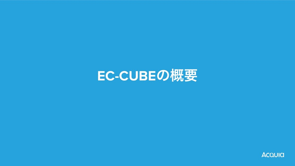 EC-CUBEͷ֓ཁ