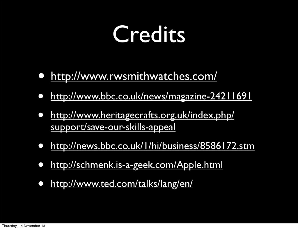 Credits • http://www.rwsmithwatches.com/ • http...