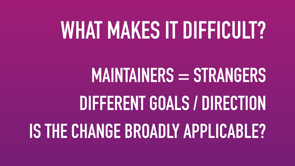 MAINTAINERS = STRANGERS DIFFERENT GOALS / DIREC...
