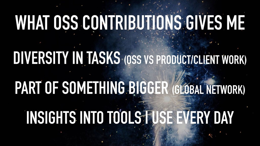 WHAT OSS CONTRIBUTIONS GIVES ME DIVERSITY IN TA...