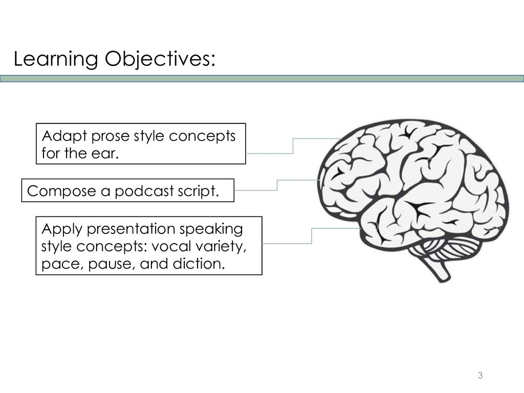Learning Objectives: 3 Adapt prose style concep...