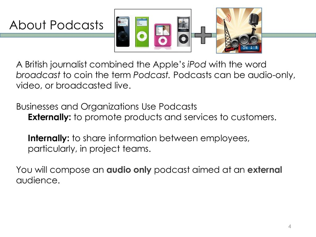 About Podcasts 4 A British journalist combined ...
