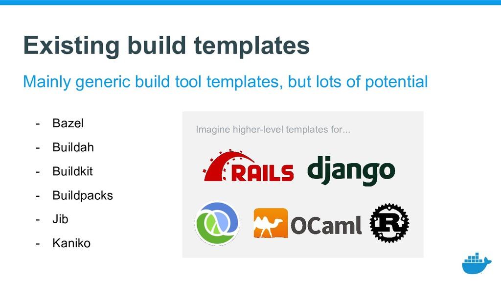 Existing build templates - Bazel - Buildah - Bu...