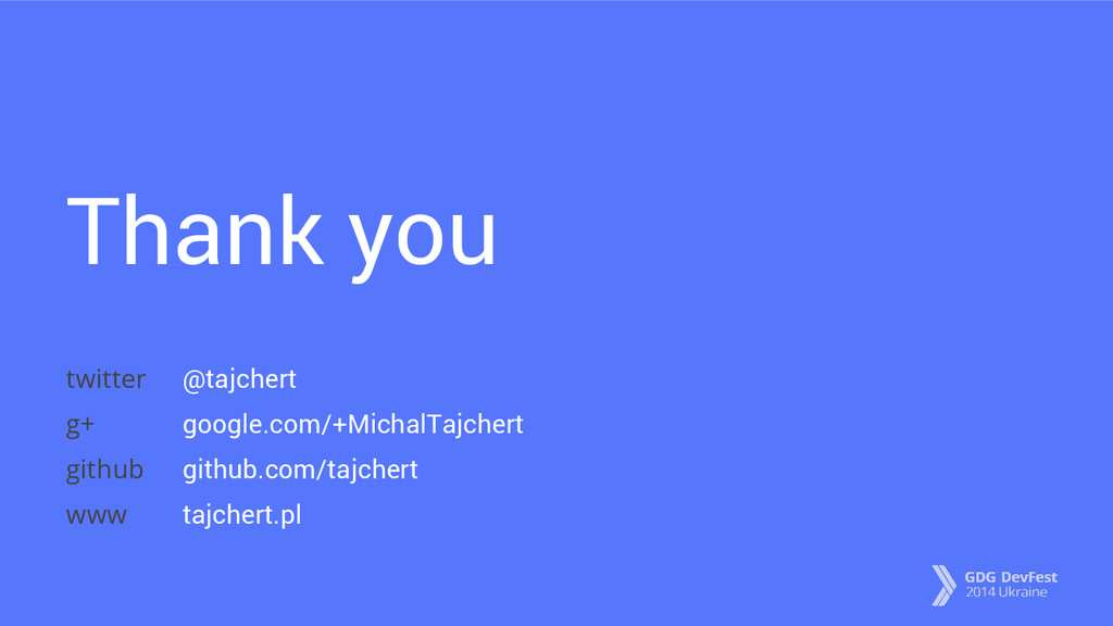Thank you @tajchert google.com/+MichalTajchert ...