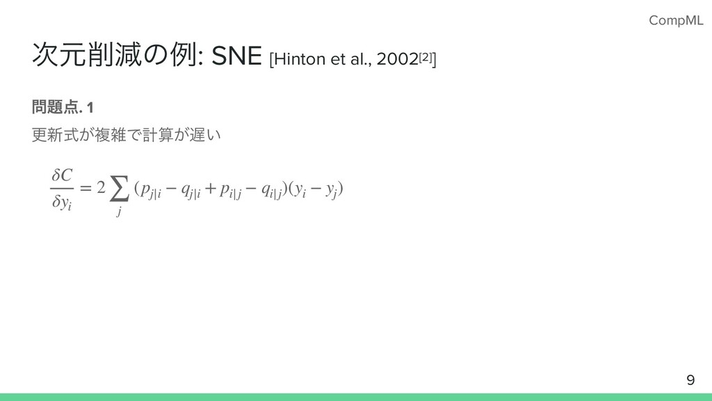CompML ݩݮͷྫ: SNE [Hinton et al., 2002[2]] ...