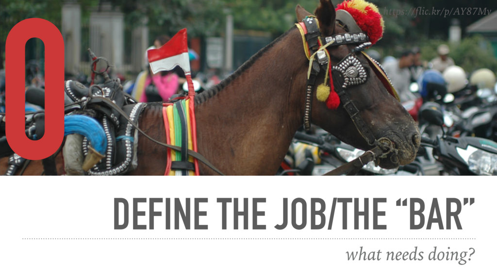 "DEFINE THE JOB/THE ""BAR"" what needs doing? 0 ht..."