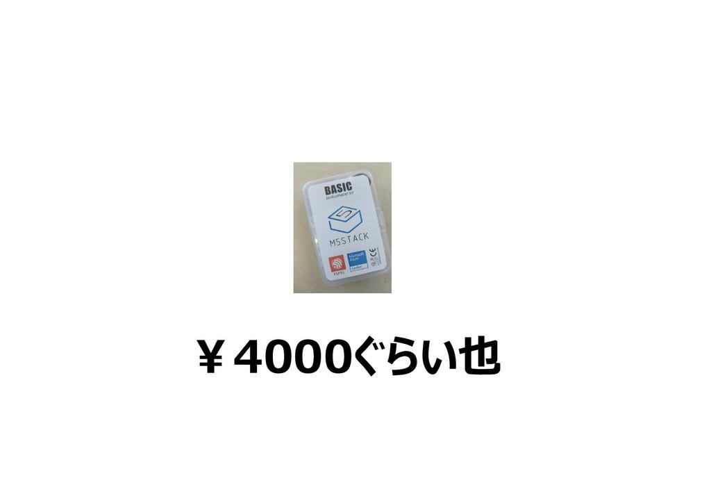 ¥4000ぐらい也