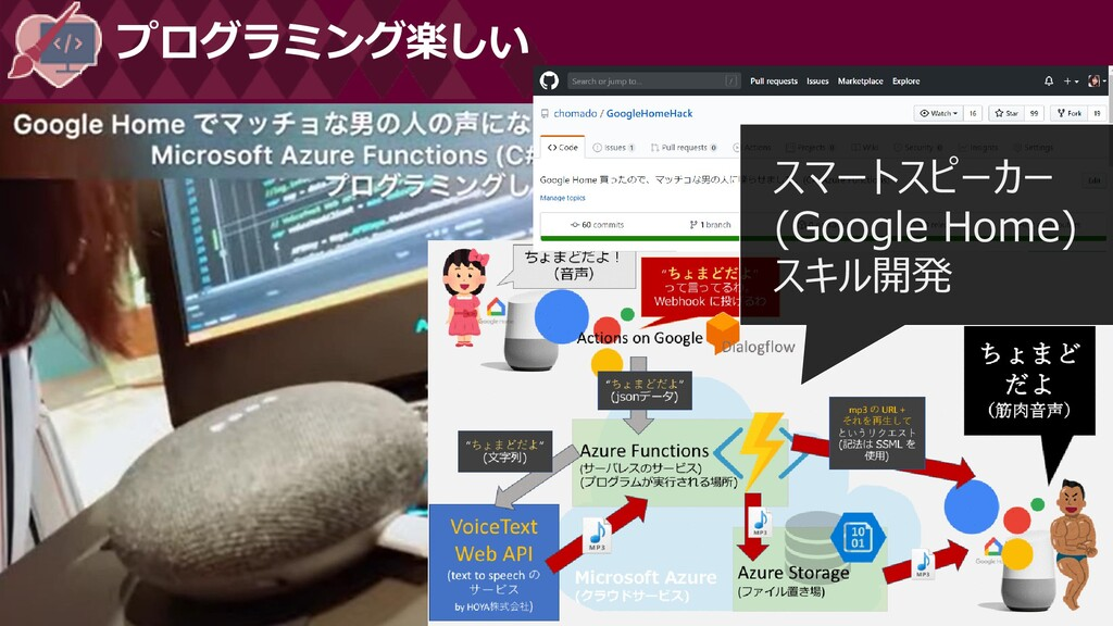 プログラミング楽しい スマートスピーカー (Google Home) スキル開発