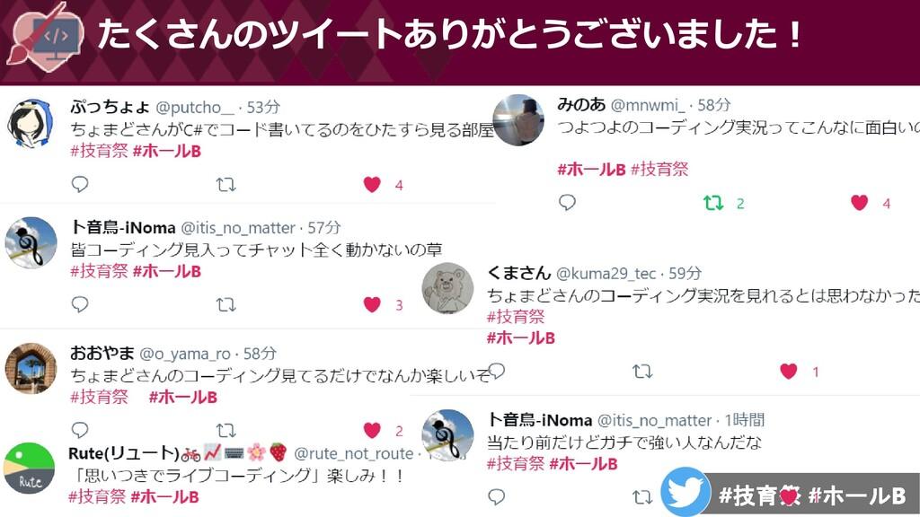 たくさんのツイートありがとうございました!