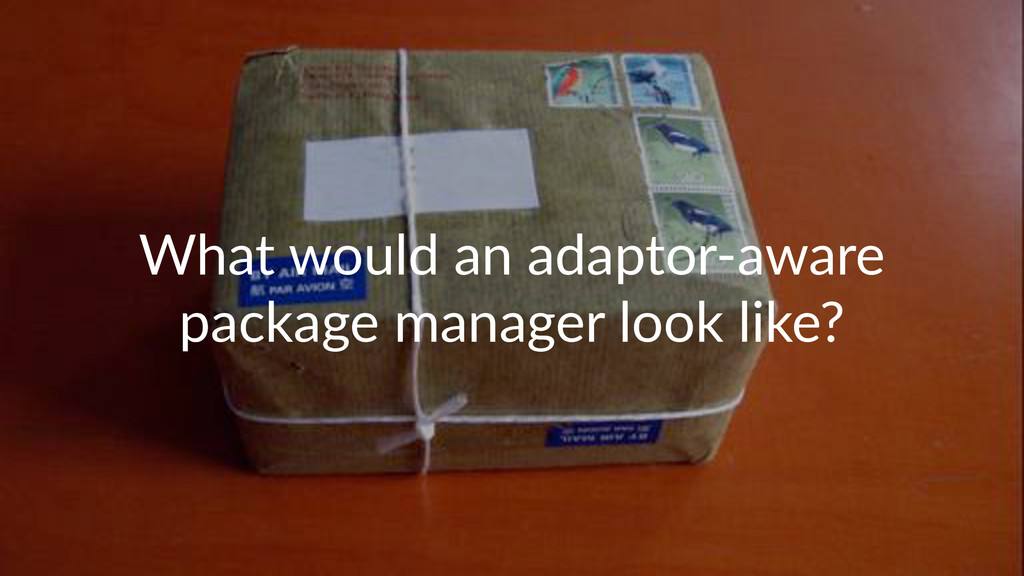 What%would%an%adaptor.aware% package%manager%lo...