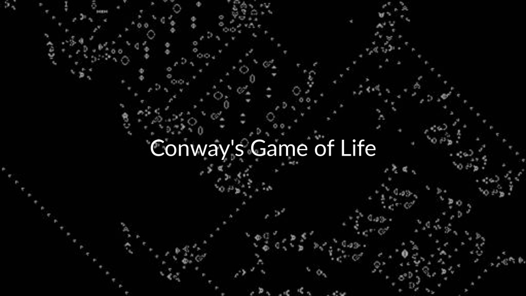 Conway's)Game)of)Life