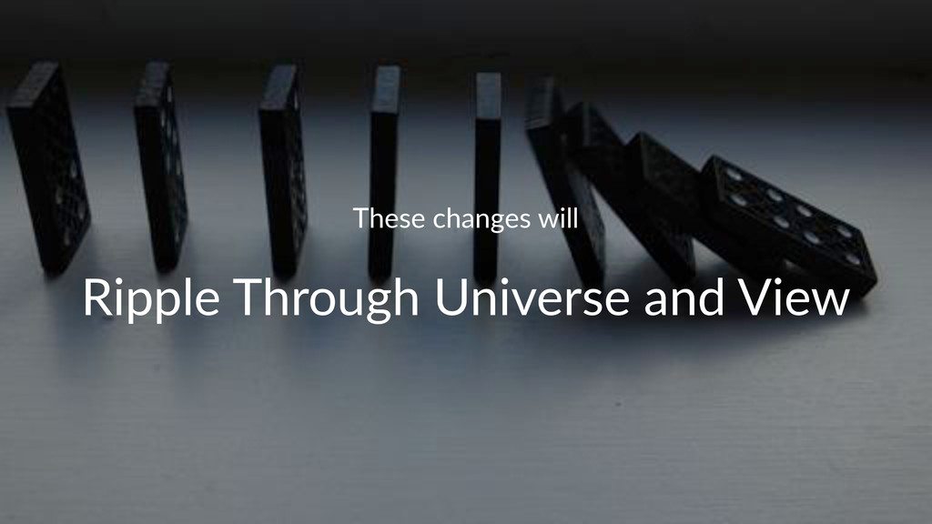 These%changes%will Ripple&Through&Universe&and&...