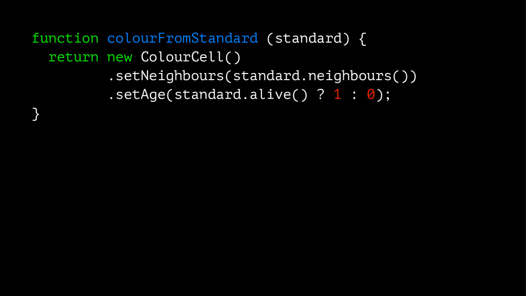 function colourFromStandard (standard) { return...