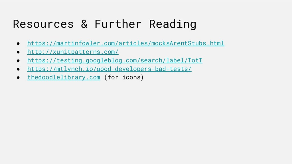Resources & Further Reading ● https://martinfow...