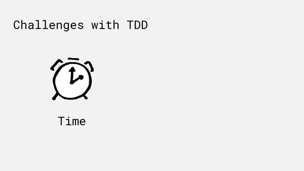 Time Challenges with TDD
