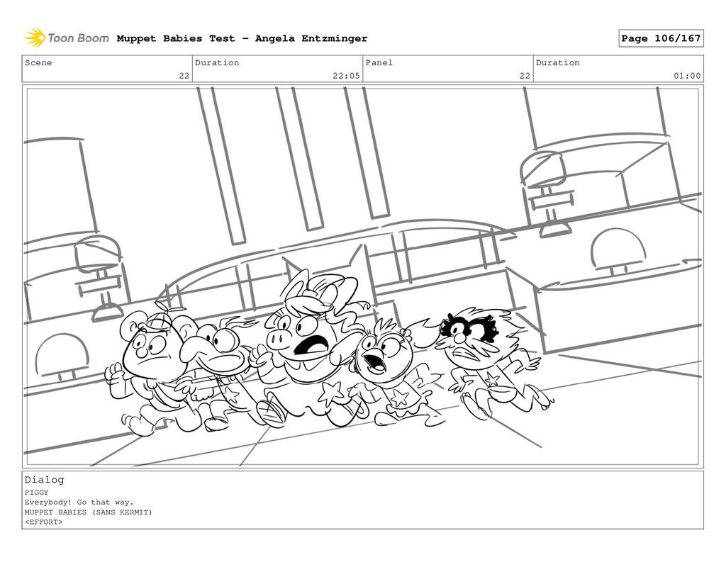 Scene 22 Duration 22:05 Panel 22 Duration 01:00...