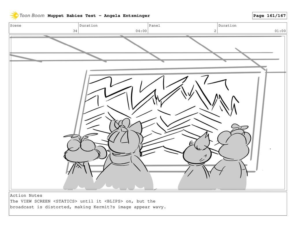 Scene 34 Duration 04:00 Panel 2 Duration 01:00 ...