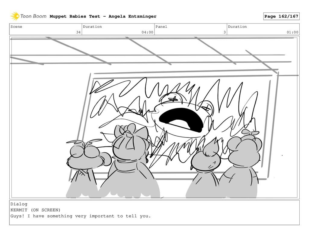 Scene 34 Duration 04:00 Panel 3 Duration 01:00 ...