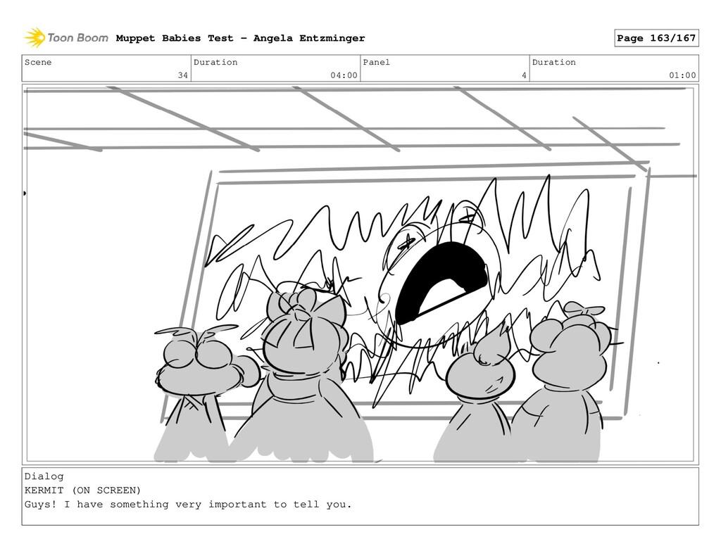 Scene 34 Duration 04:00 Panel 4 Duration 01:00 ...
