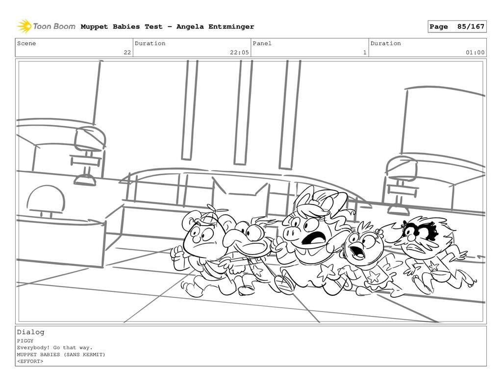 Scene 22 Duration 22:05 Panel 1 Duration 01:00 ...
