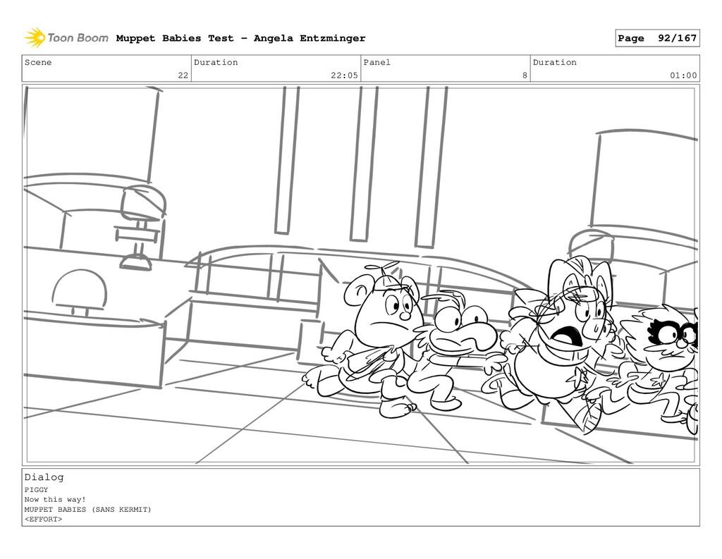 Scene 22 Duration 22:05 Panel 8 Duration 01:00 ...