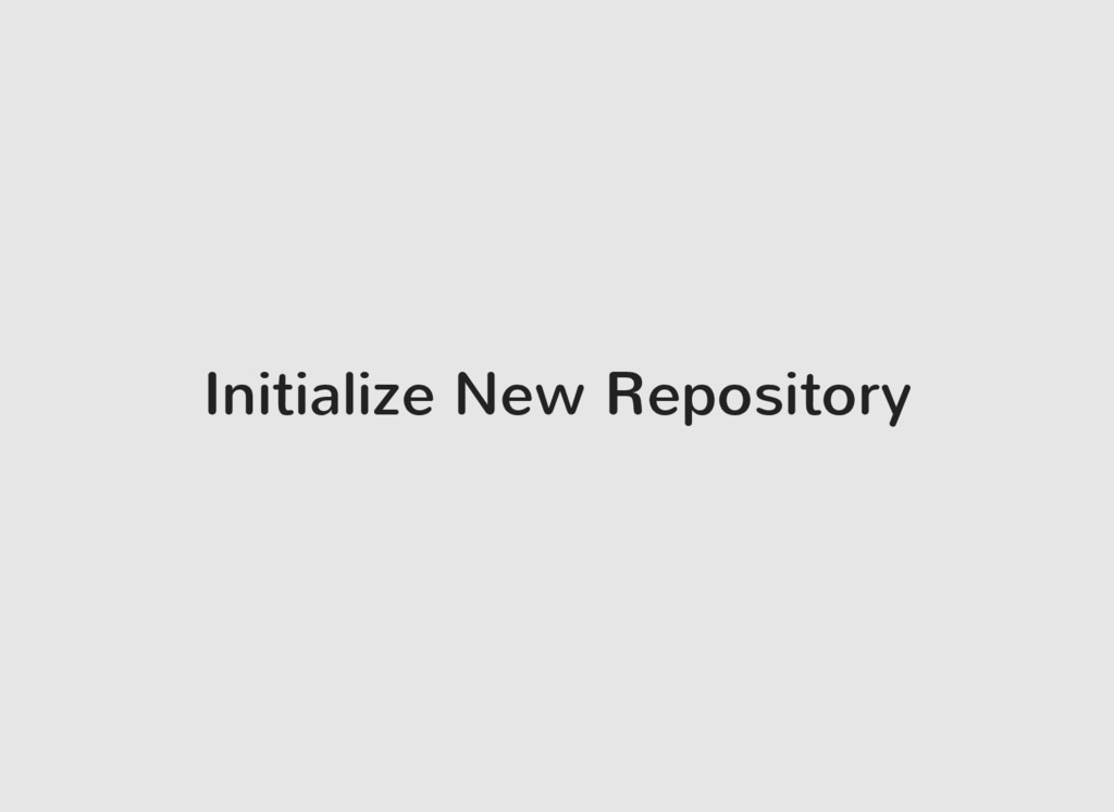 Initialize New Repository