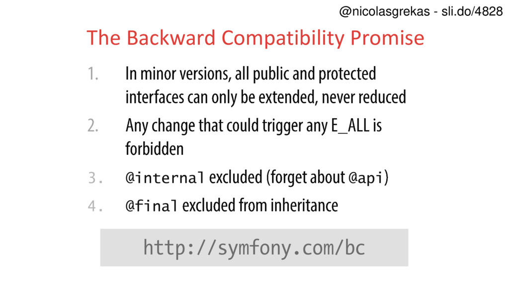 3. @internal @api 4. @final The Backward Compat...