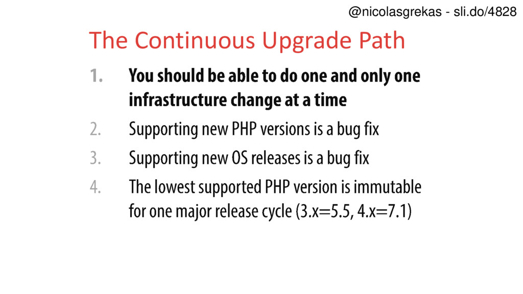 The Continuous Upgrade Path @nicolasgrekas - sl...