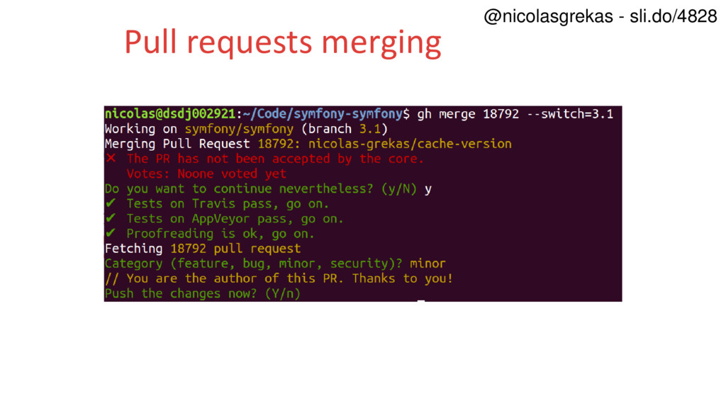 Pull requests merging @nicolasgrekas - sli.do/4...