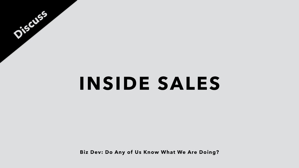 Biz Dev: Do Any of Us Know What We Are Doing? I...