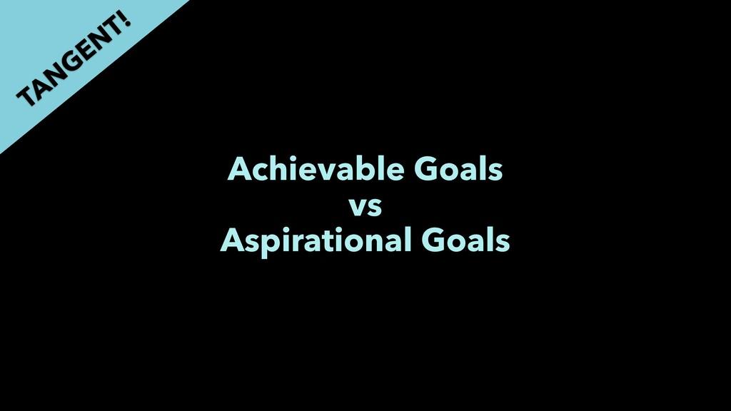 Achievable Goals vs Aspirational Goals TAN GEN ...