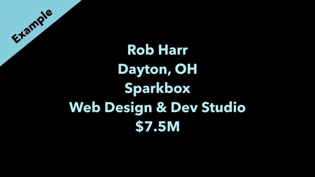Rob Harr Dayton, OH Sparkbox Web Design & Dev S...
