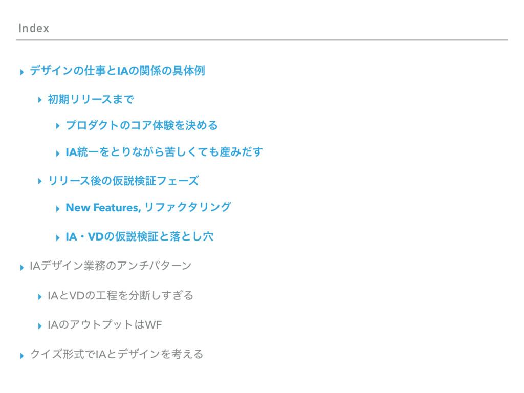 Index ▸ σβΠϯͷͱIAͷؔͷ۩ମྫ ▸ ॳظϦϦʔε·Ͱ ▸ ϓϩμΫτͷίΞ...