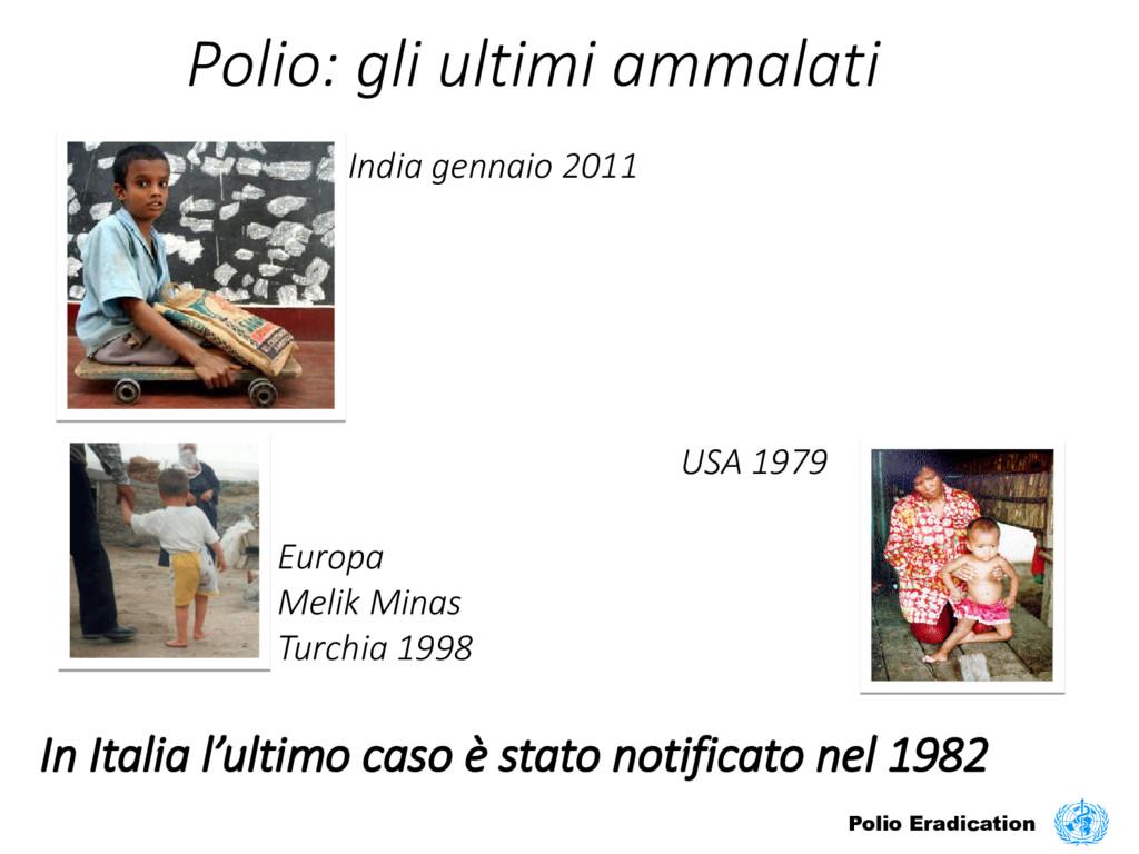 Polio: gli ultimi ammalati India gennaio 2011 E...