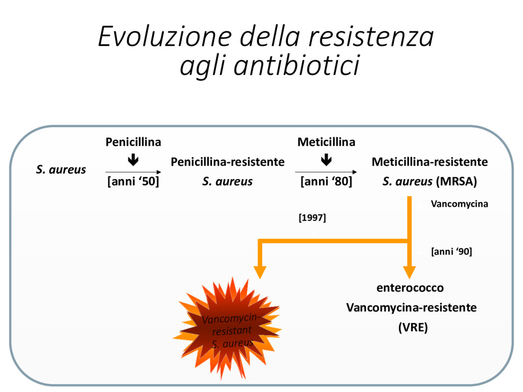 Evoluzione della resistenza agli antibiotici S....