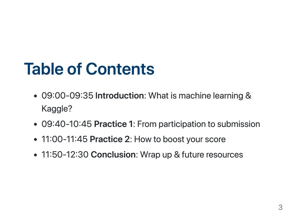 Table of Contents 0900-0935 Introduction: What ...