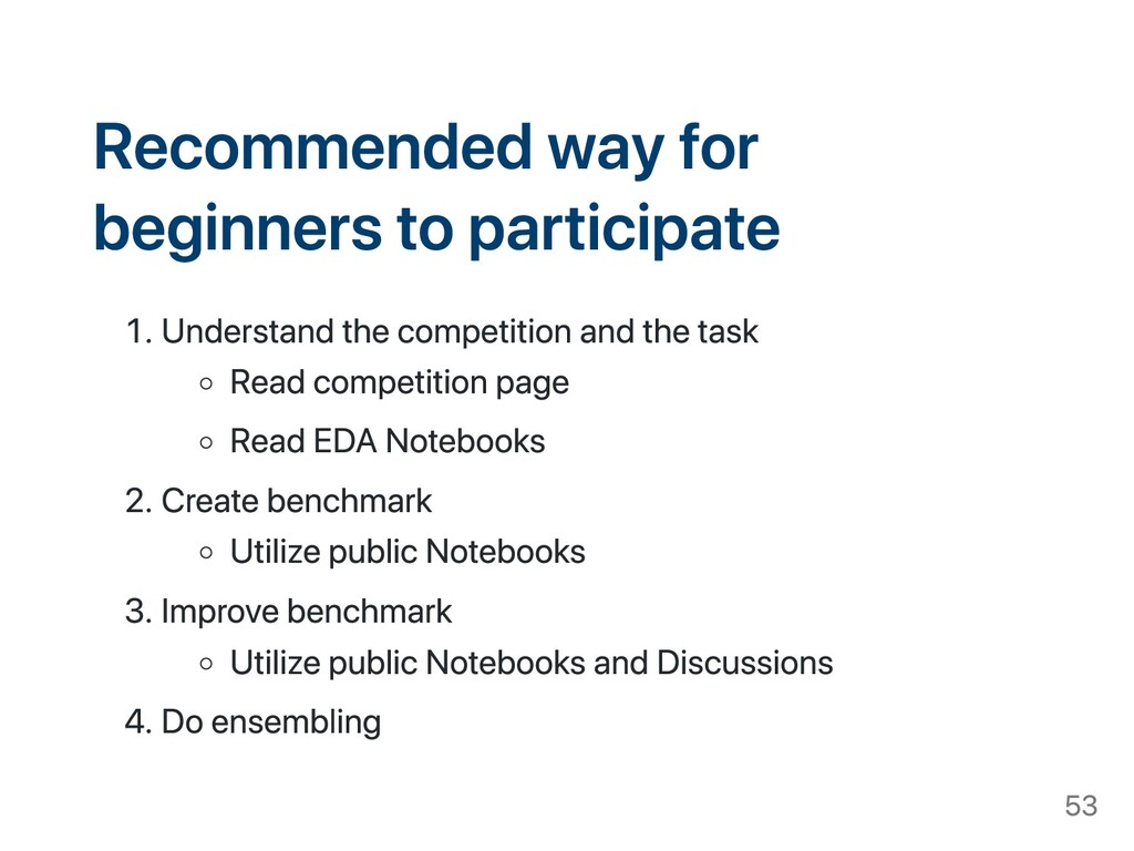 Recommended way for beginners to participate . ...