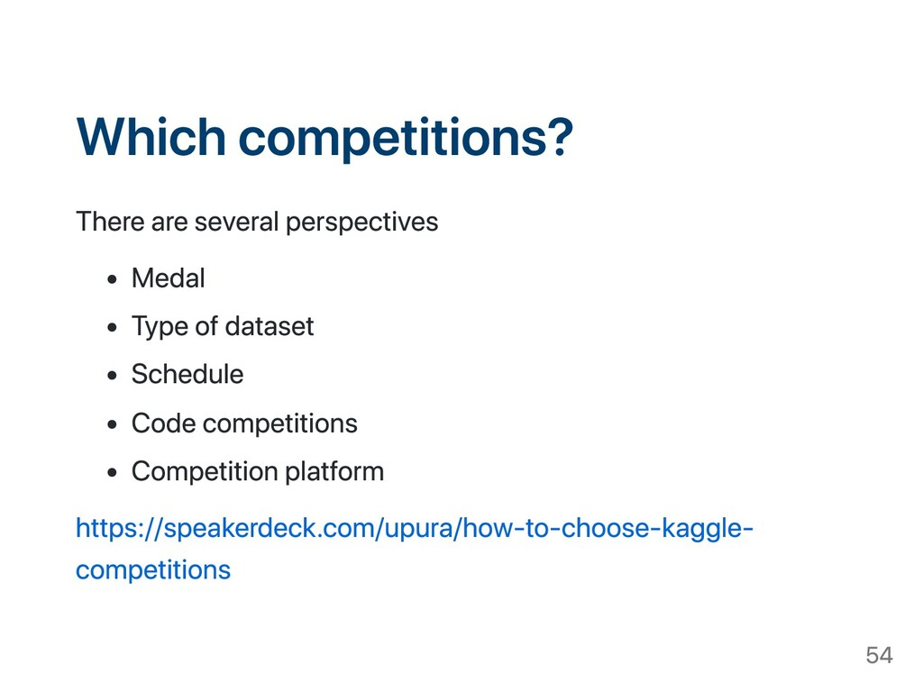 Which competitions? There are several perspecti...