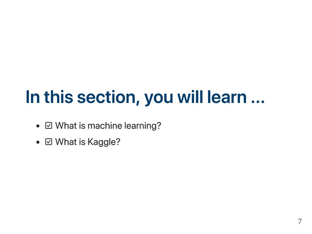 In this section, you will learn ... ☑ What is m...