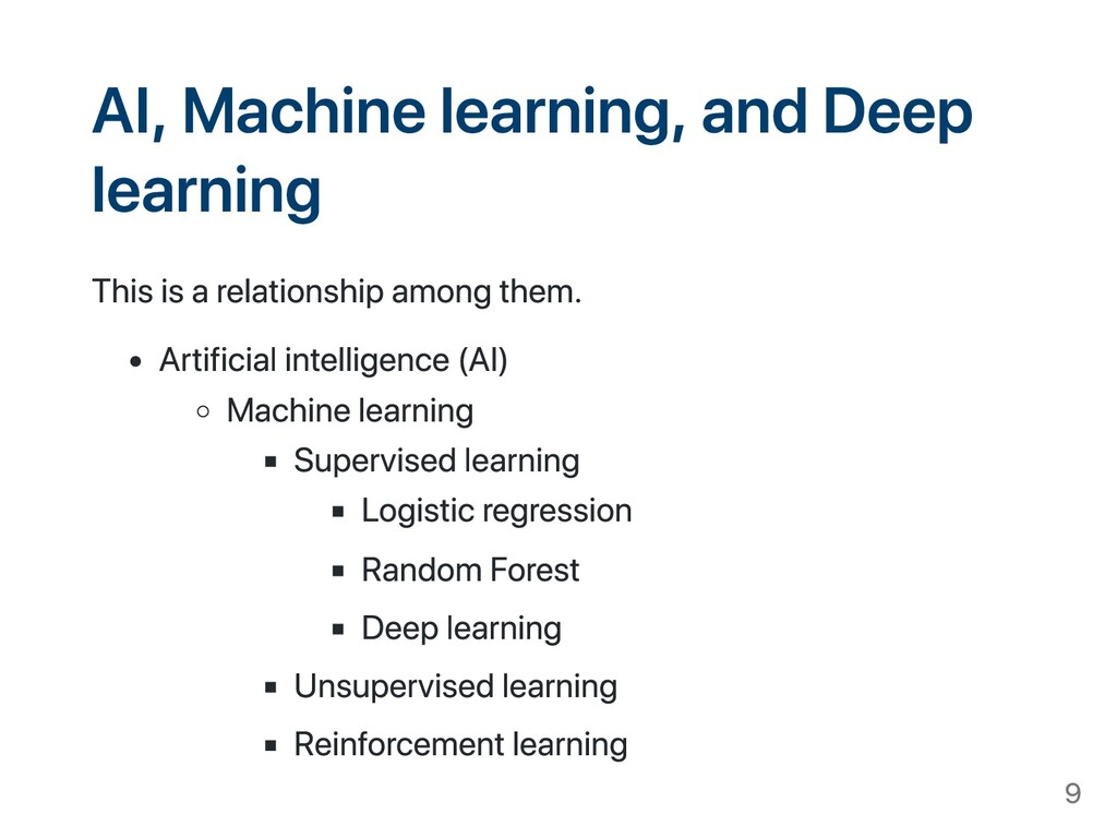 AI, Machine learning, and Deep learning This is...