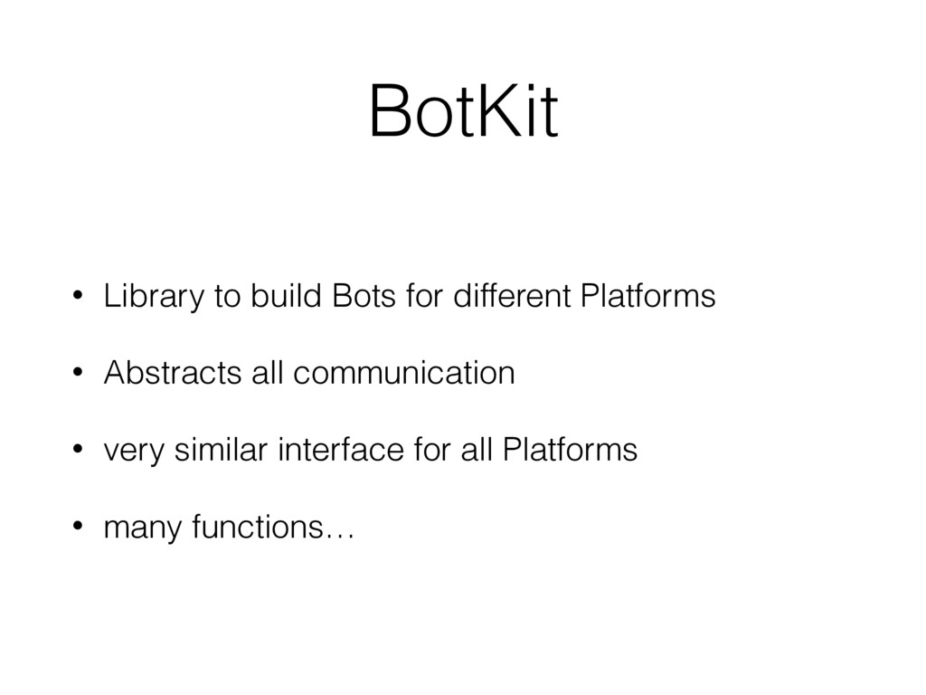 BotKit • Library to build Bots for different Pl...