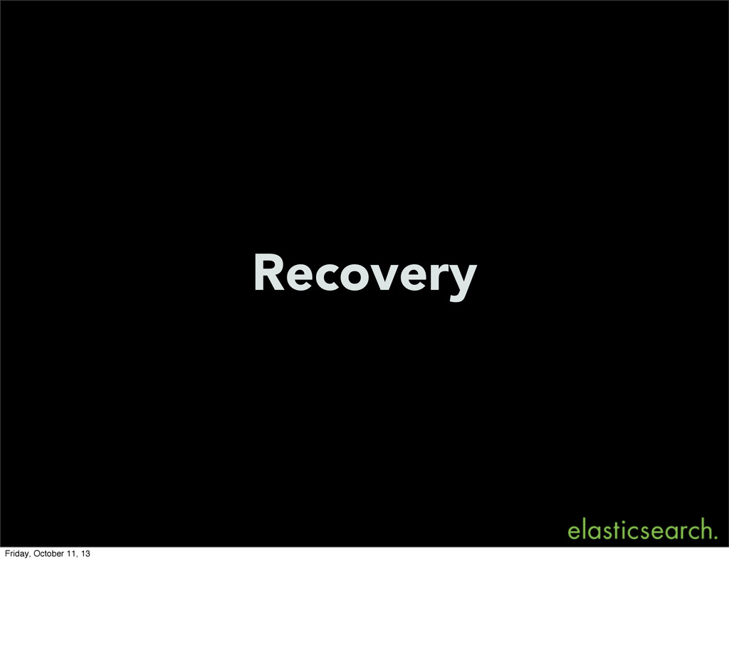 Recovery Friday, October 11, 13