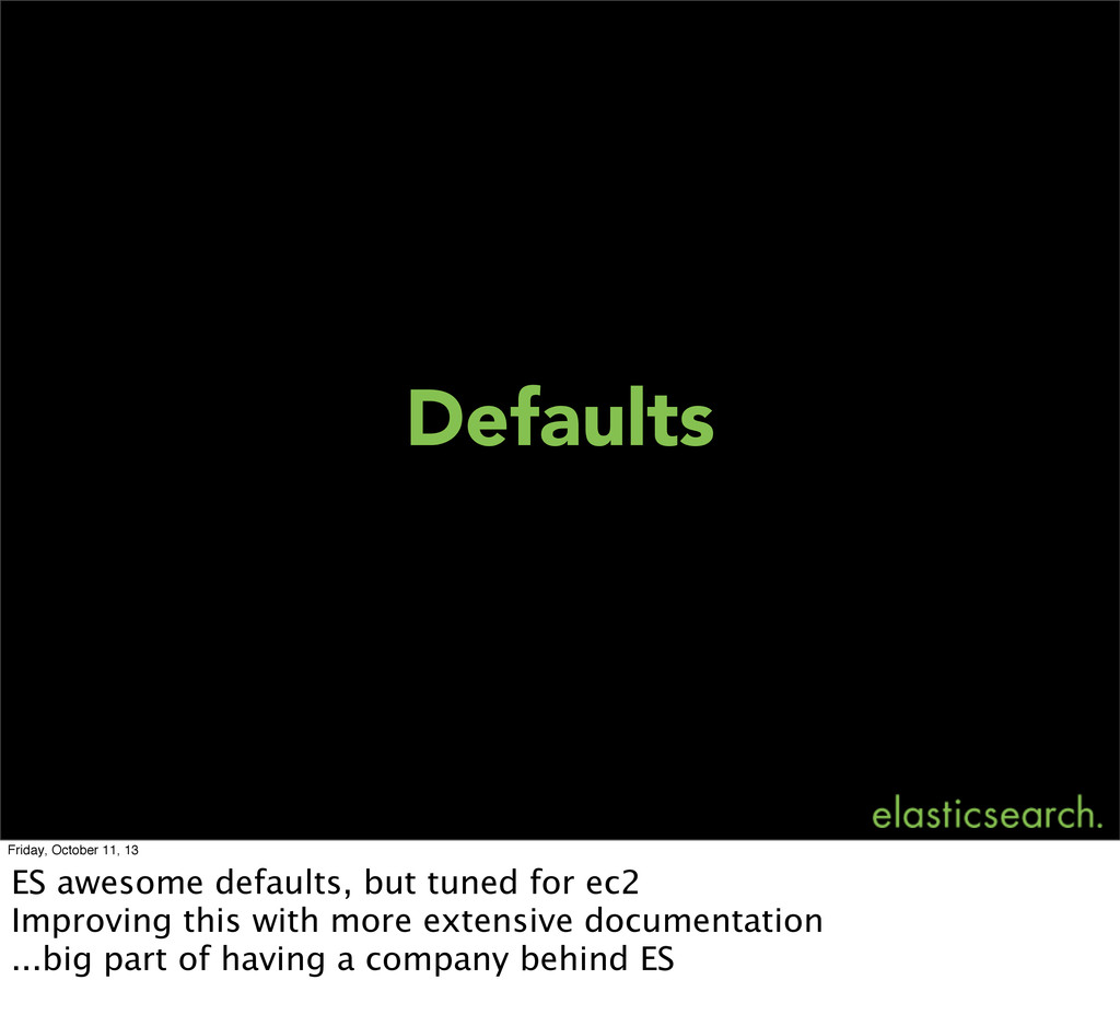 Defaults Friday, October 11, 13 ES awesome defa...