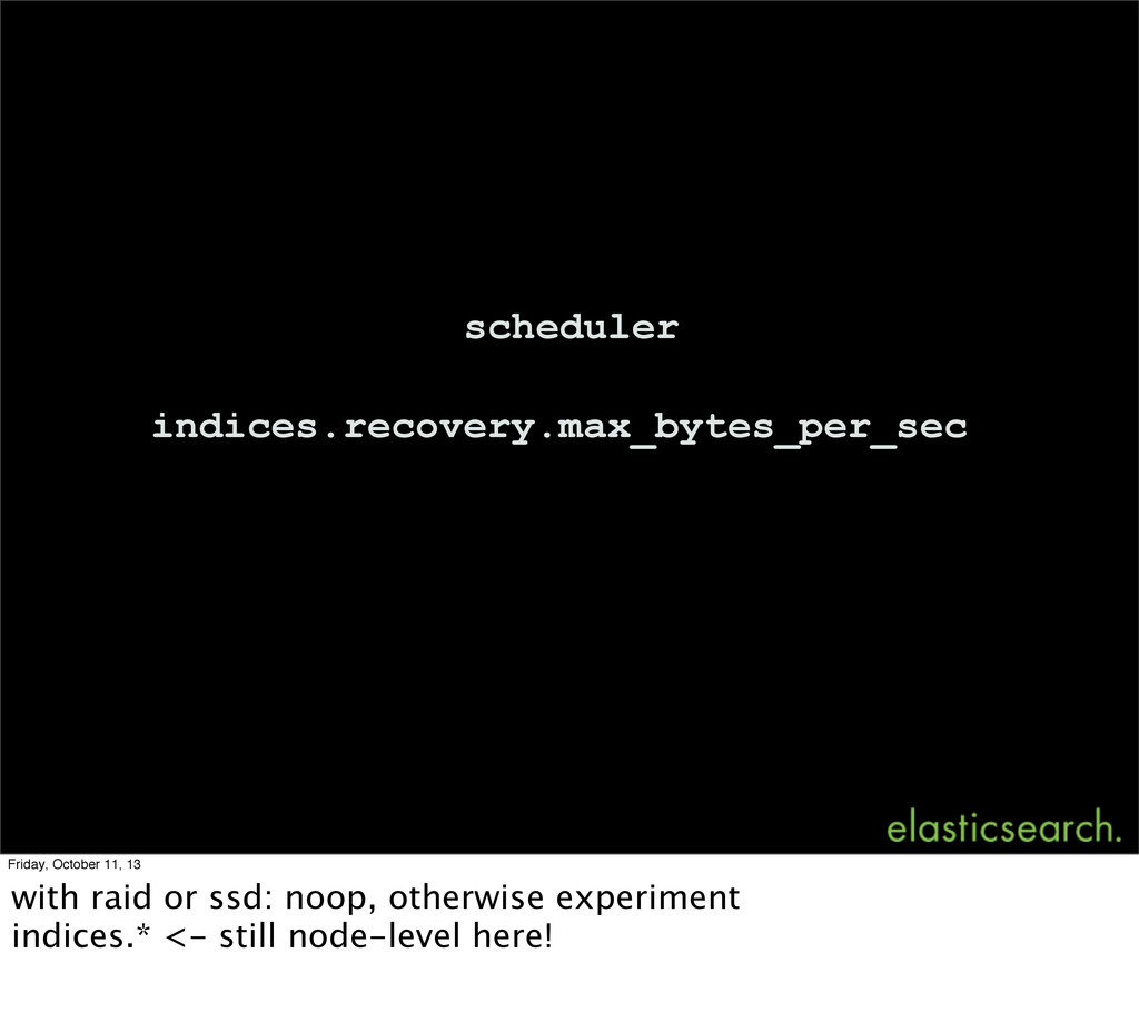 indices.recovery.max_bytes_per_sec scheduler Fr...