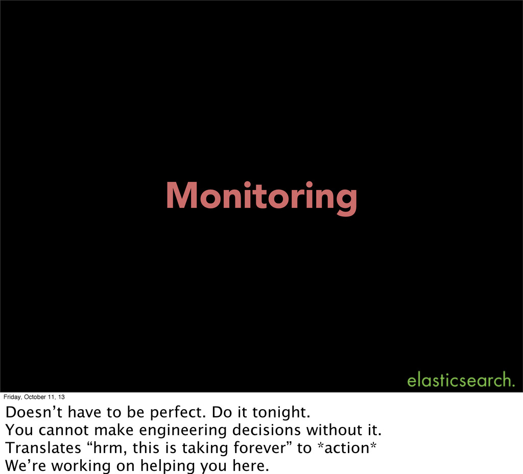 Monitoring Friday, October 11, 13 Doesn't have ...